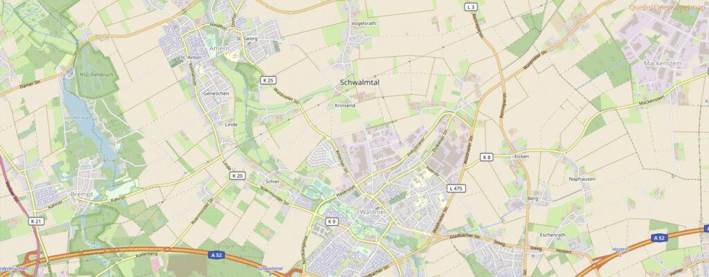 Karte von Schwalmtal